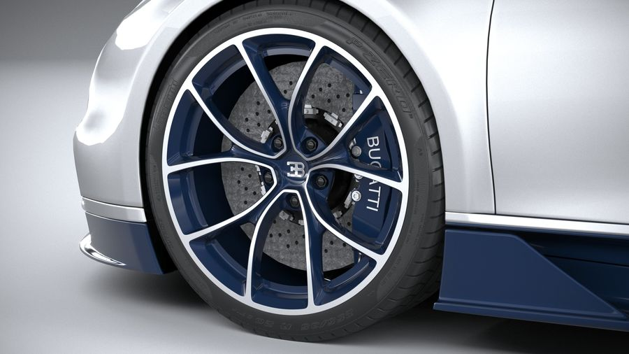 Bugatti Chiron 2020 royalty-free 3d model - Preview no. 17