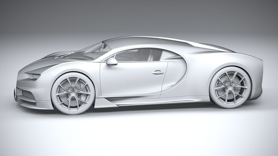 Bugatti Chiron 2020 royalty-free 3d model - Preview no. 23