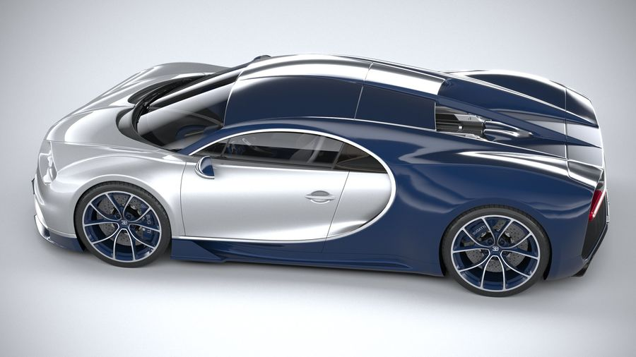 Bugatti Chiron 2020 royalty-free 3d model - Preview no. 10