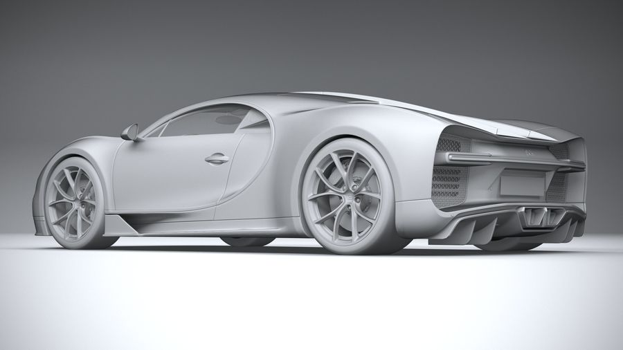 Bugatti Chiron 2020 royalty-free 3d model - Preview no. 22