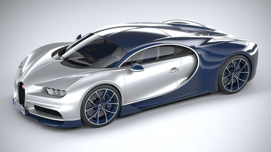 Bugatti Chiron 2020 royalty-free 3d model - Preview no. 8