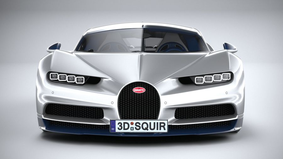 Bugatti Chiron 2020 royalty-free 3d model - Preview no. 14