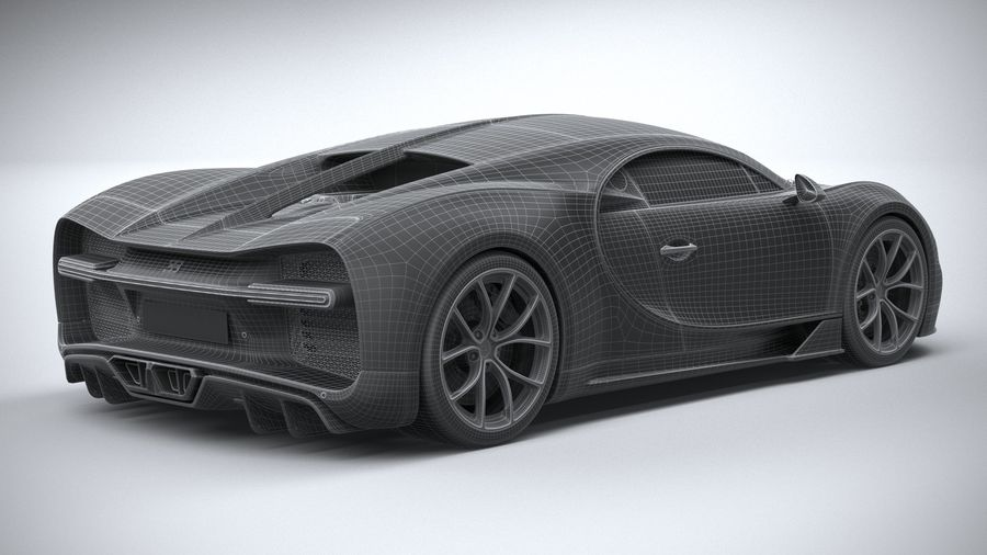 Bugatti Chiron 2020 royalty-free 3d model - Preview no. 31