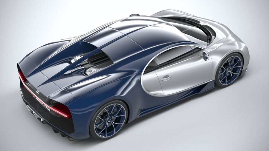 Bugatti Chiron 2020 royalty-free 3d model - Preview no. 11