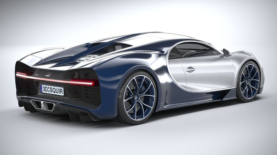 Bugatti Chiron 2020 royalty-free 3d model - Preview no. 18