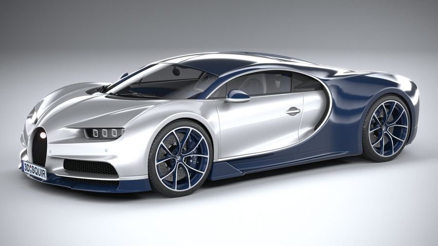 Bugatti Chiron 2020 royalty-free 3d model - Preview no. 1