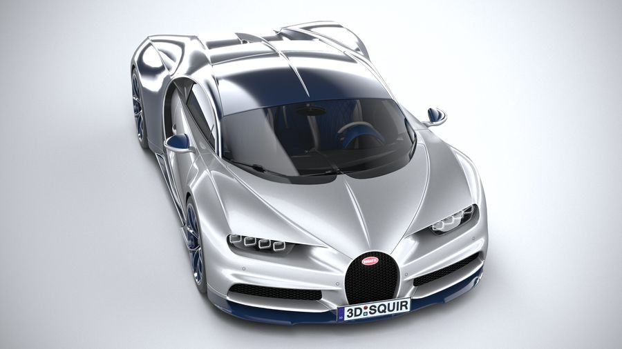 Bugatti Chiron 2020 royalty-free 3d model - Preview no. 13