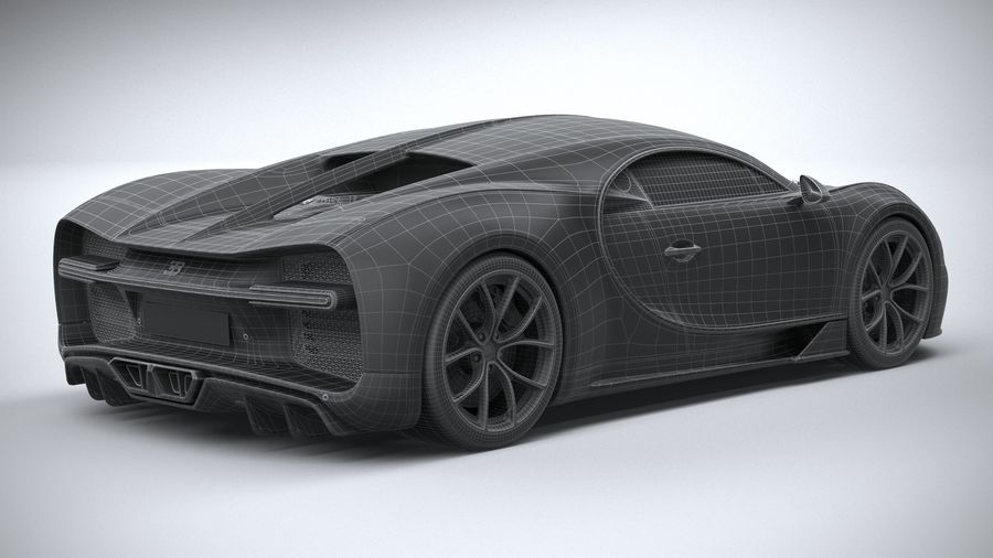 Bugatti Chiron 2020 royalty-free 3d model - Preview no. 33