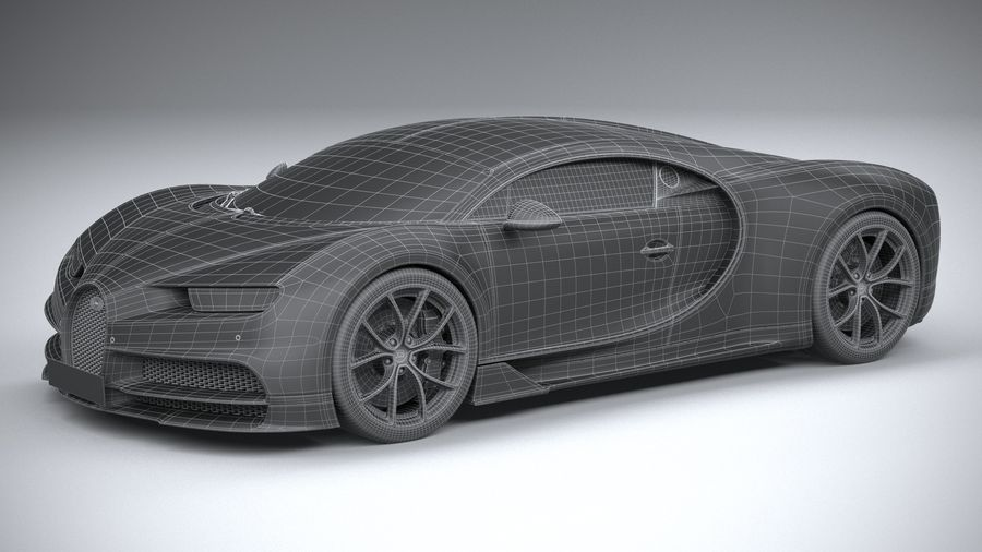 Bugatti Chiron 2020 royalty-free 3d model - Preview no. 32