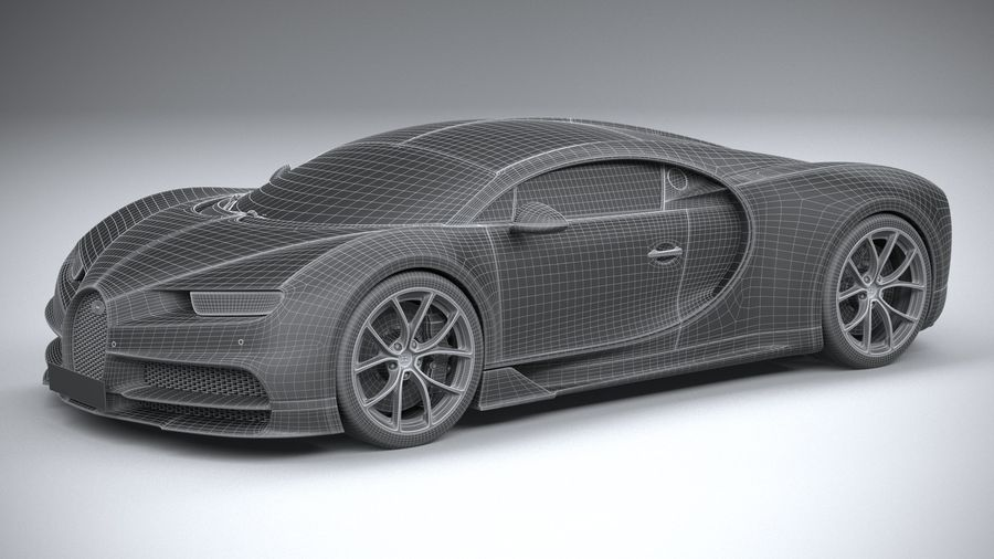 Bugatti Chiron 2020 royalty-free 3d model - Preview no. 30