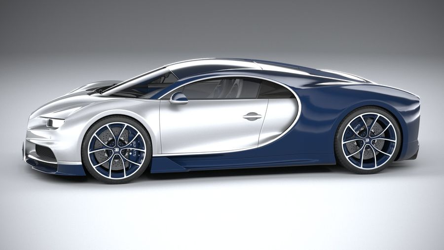 Bugatti Chiron 2020 royalty-free 3d model - Preview no. 9