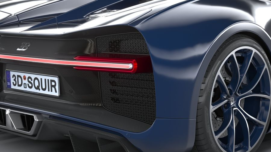 Bugatti Chiron 2020 royalty-free 3d model - Preview no. 19