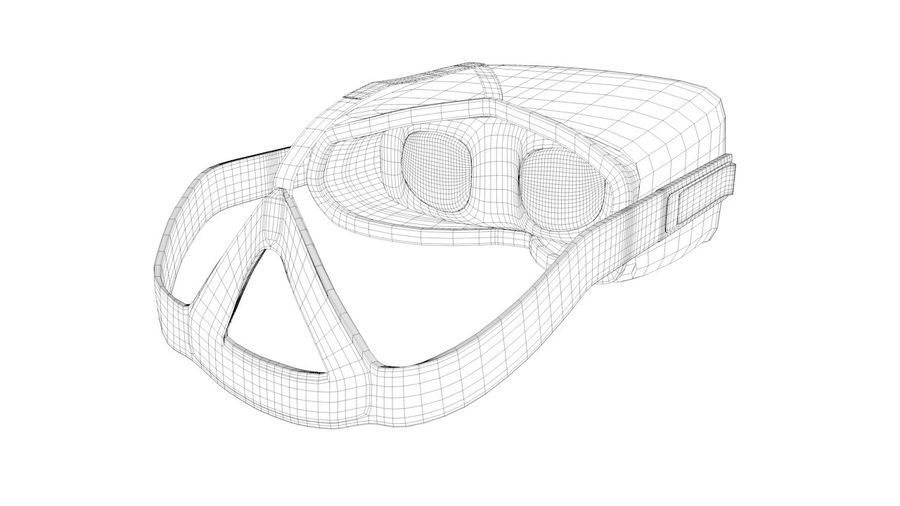 Oculus Rift (No Headset) royalty-free 3d model - Preview no. 12