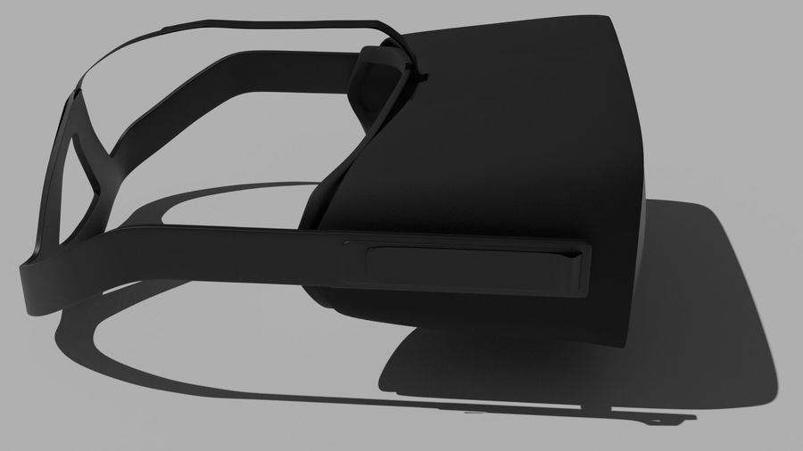 Oculus Rift (No Headset) royalty-free 3d model - Preview no. 8