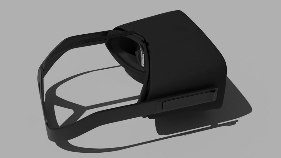 Oculus Rift (No Headset) royalty-free 3d model - Preview no. 7