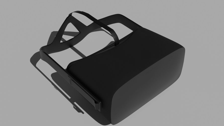 Oculus Rift (No Headset) royalty-free 3d model - Preview no. 6