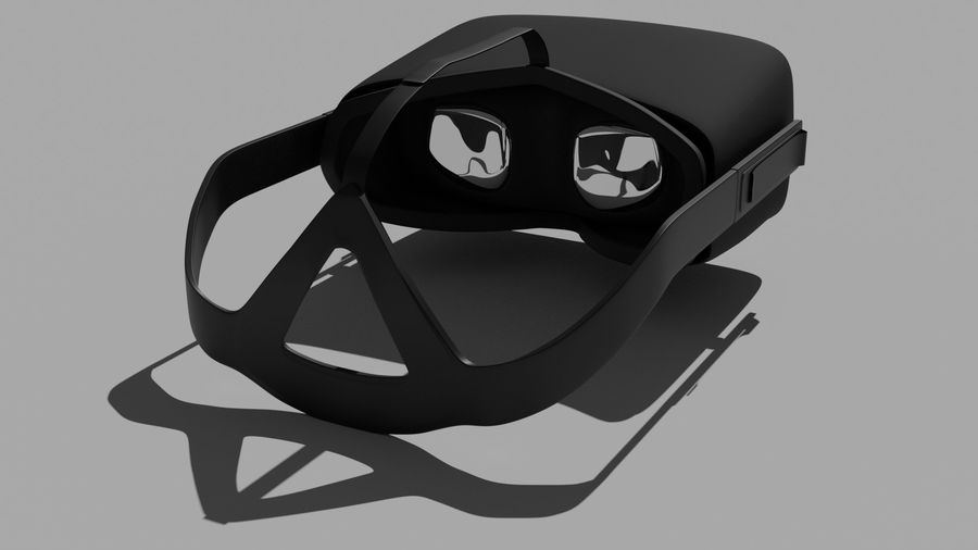 Oculus Rift (No Headset) royalty-free 3d model - Preview no. 2