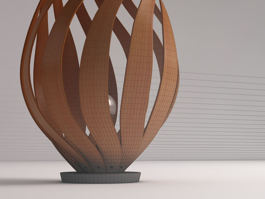 FLOOR LAMP---Tulip royalty-free 3d model - Preview no. 4