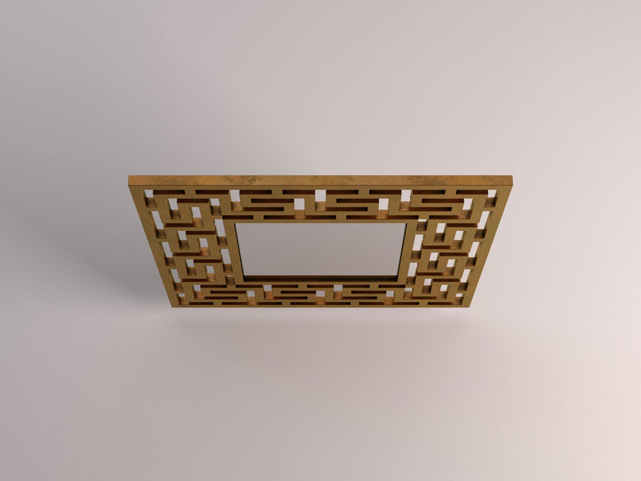 MIRROR---Square with labyritnh royalty-free 3d model - Preview no. 1