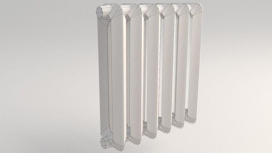Lowpoly Radiator (1) royalty-free 3d model - Preview no. 1