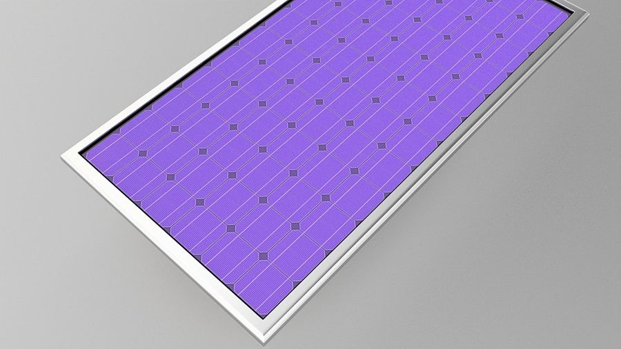 Solar Panel (2) royalty-free 3d model - Preview no. 1