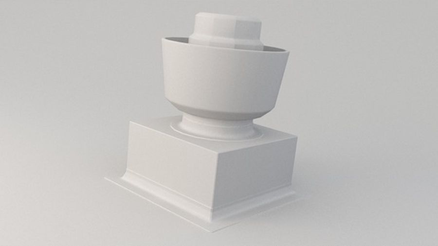 Ventilation Exhaust Fan Roof 3d(4) royalty-free 3d model - Preview no. 1