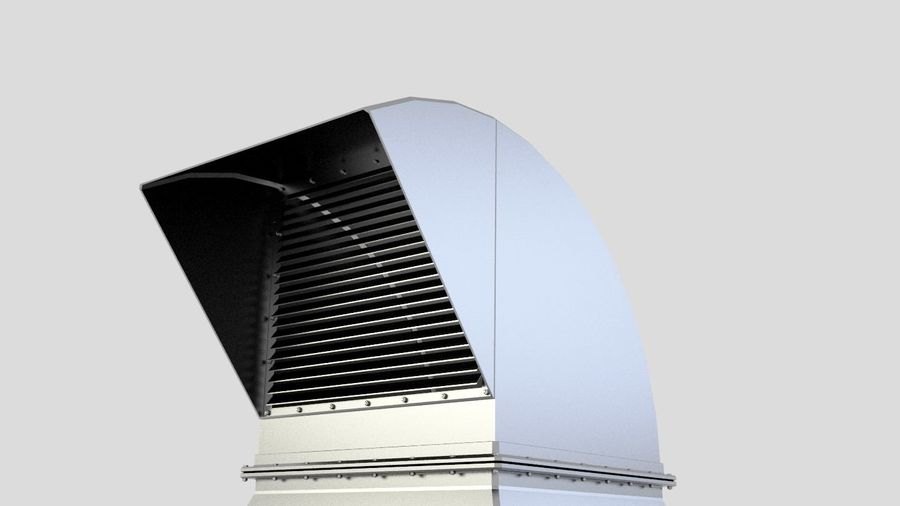 Ventilation Exhaust Fan Roof (6) royalty-free 3d model - Preview no. 4