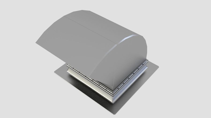 Ventilation Exhaust Fan Roof (6) royalty-free 3d model - Preview no. 3