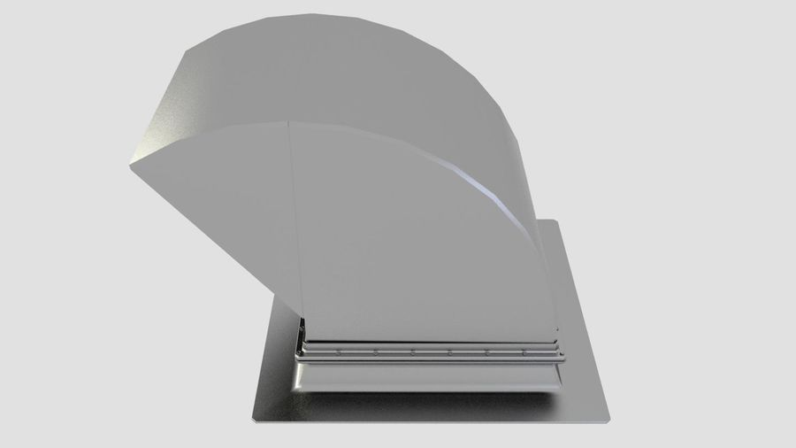 Ventilation Exhaust Fan Roof (6) royalty-free 3d model - Preview no. 2