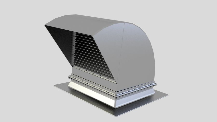 Ventilation Exhaust Fan Roof (6) royalty-free 3d model - Preview no. 1