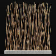 プランターの長い枝の薄い曲がったn5 3d model