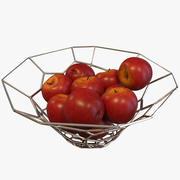 Яблочная миска 3d model