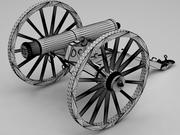 大砲 3d model