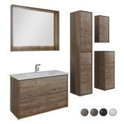 家具セットMokka 100とケース 3d model