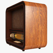 Vintage Radio Auna 3d model