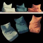 Armchair-bag for rest 3d model