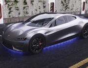 Tesla Roadster Interior 3d model