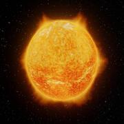 太陽のアニメーション 3d model