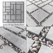 瓷砖方卵石低2 n2 3d model