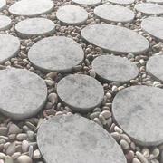 瓷砖方形卵石n1 3d model