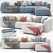 nowoczesna sofa narożna 3d model