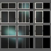 Раздвижные витражные алюминиевые окна и двери 3d model