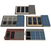 Çatı pencereleri Güneş panelleri ile çatı pencereleri 3d model