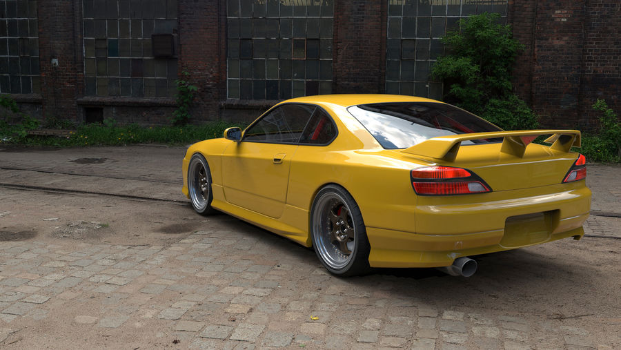 nissan silvia s15 royalty-free 3d model - Preview no. 2