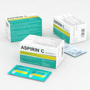 Bayer Aspirin C Box 20 pcs 2020 3d model