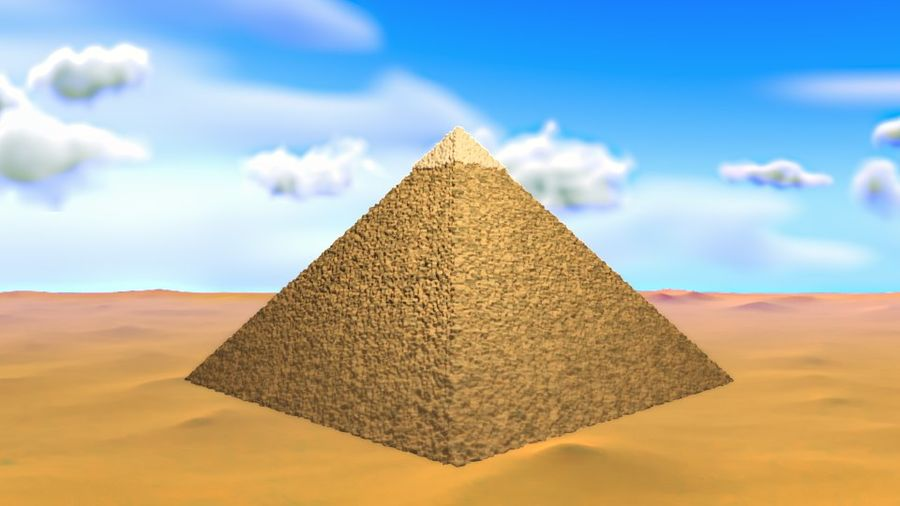Giza Pyramid basic royalty-free 3d model - Preview no. 1