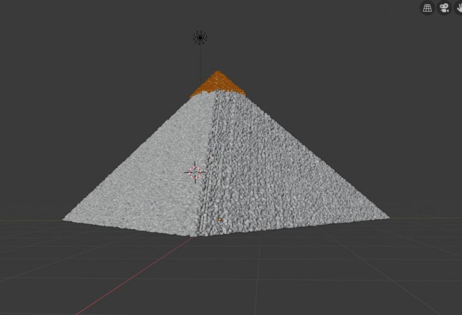 Giza Pyramid basic royalty-free 3d model - Preview no. 3