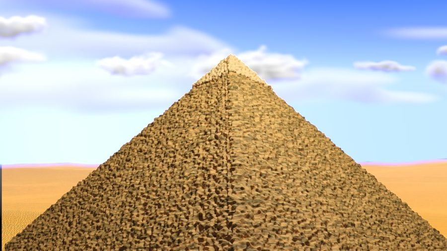 Giza Pyramid basic royalty-free 3d model - Preview no. 6