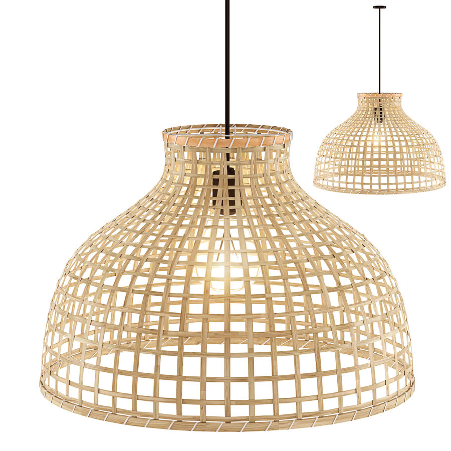GOTTORP Klosz lampy wiszącej - bambus - Ikea royalty-free 3d model - Preview no. 1