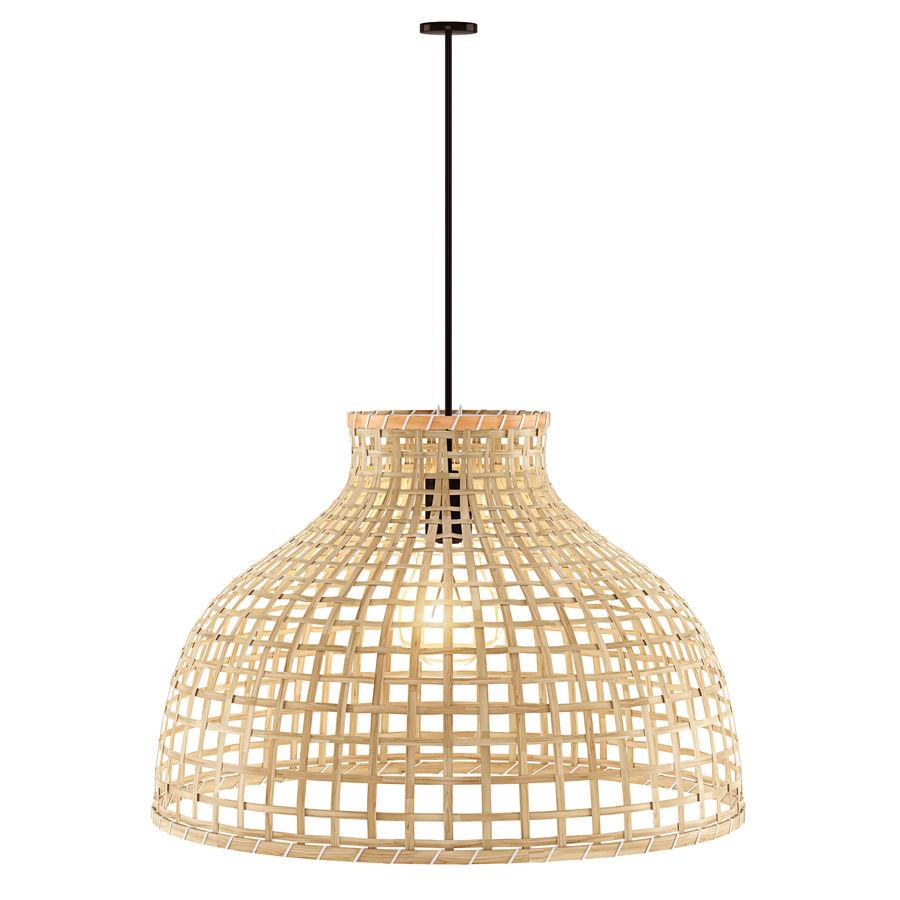 GOTTORP Klosz lampy wiszącej - bambus - Ikea royalty-free 3d model - Preview no. 3